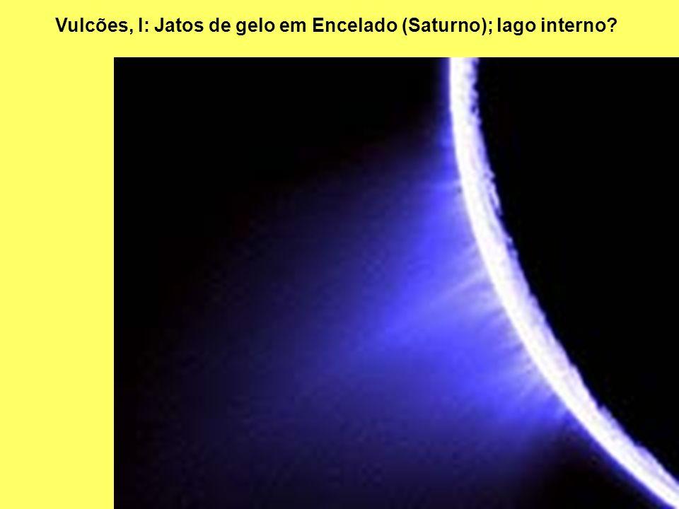 Vulcões, I: Jatos de gelo em Encelado (Saturno); lago interno?