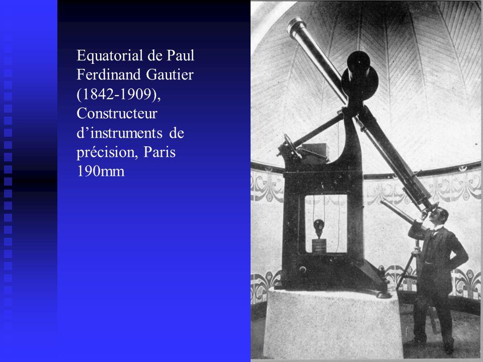 Equatorial de Paul Ferdinand Gautier (1842-1909), Constructeur dinstruments de précision, Paris 190mm