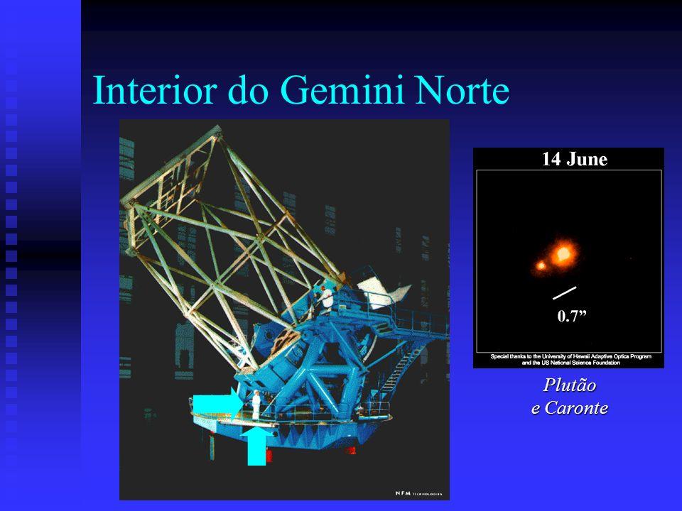Interior do Gemini Norte Plutão e Caronte