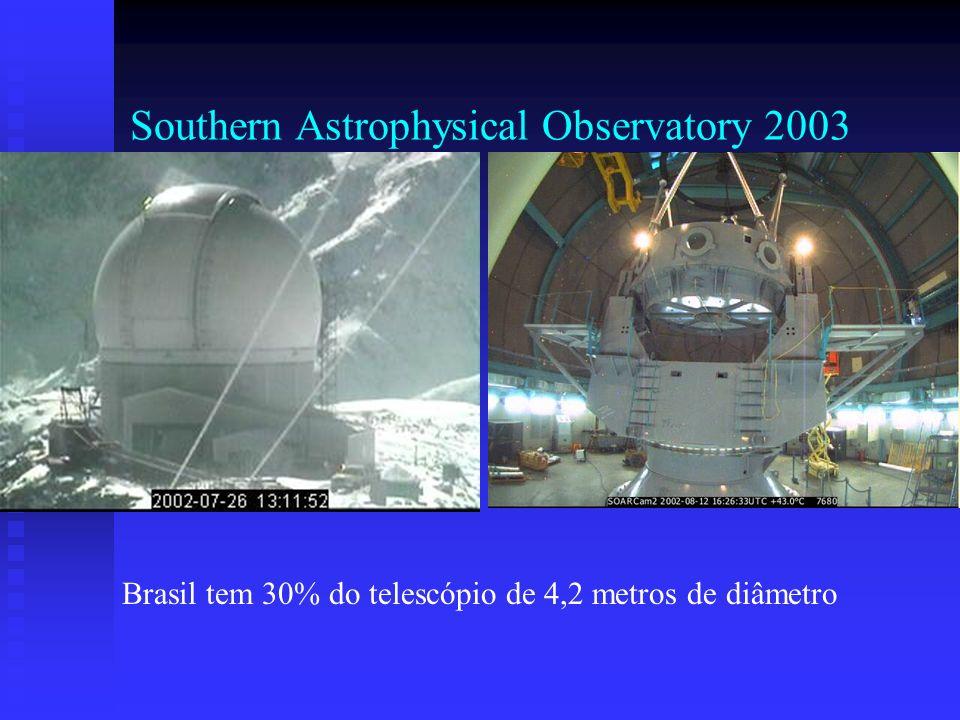 Southern Astrophysical Observatory 2003 Brasil tem 30% do telescópio de 4,2 metros de diâmetro