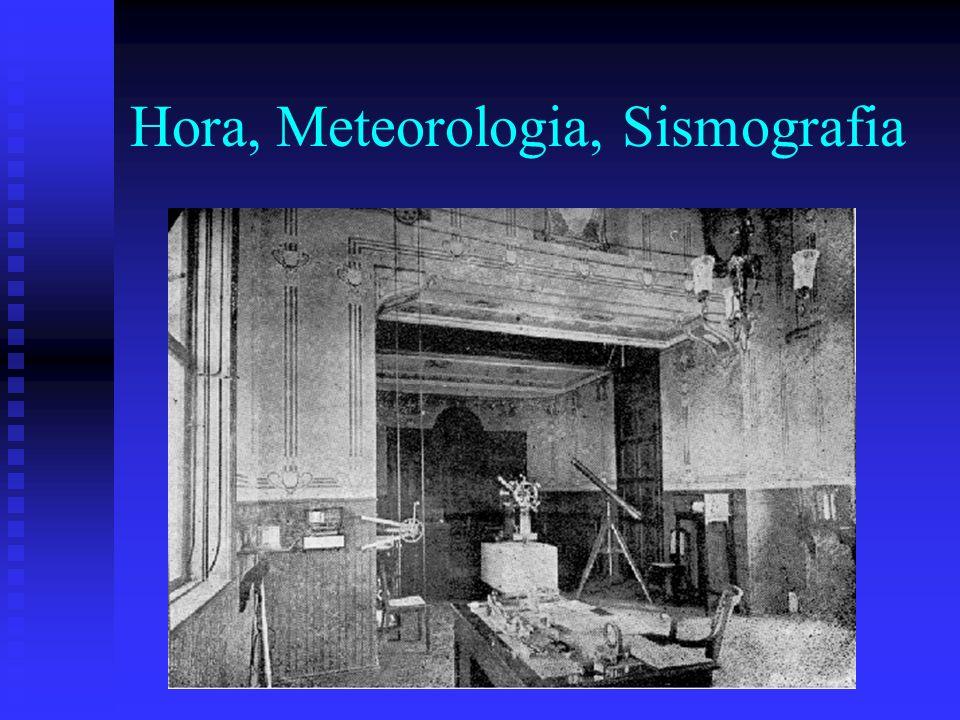 Hora, Meteorologia, Sismografia