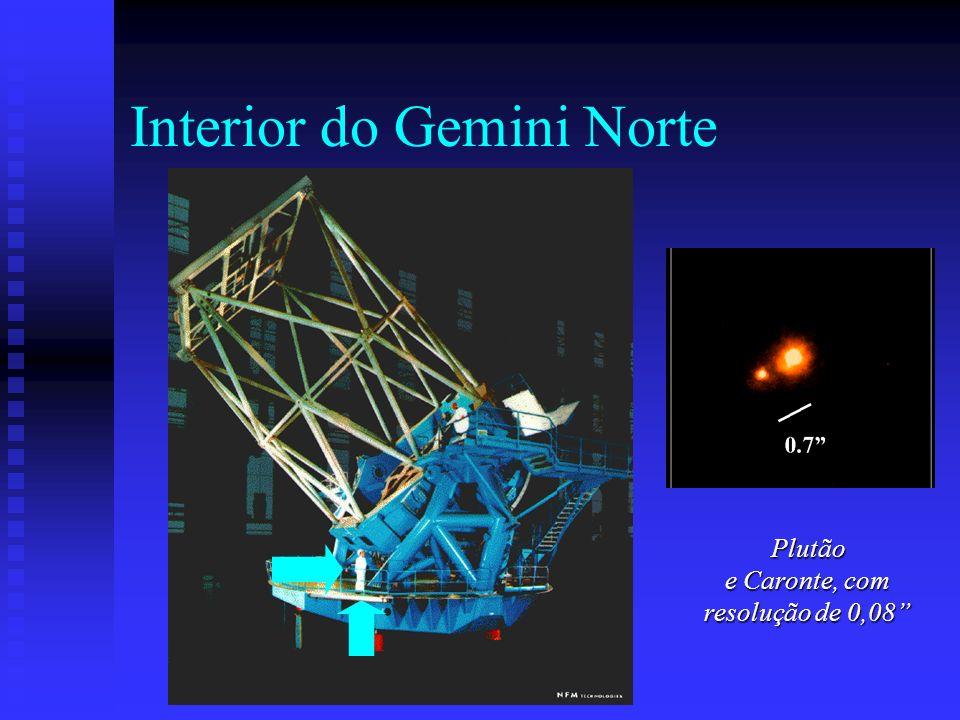 Interior do Gemini Norte Plutão e Caronte, com resolução de 0,08