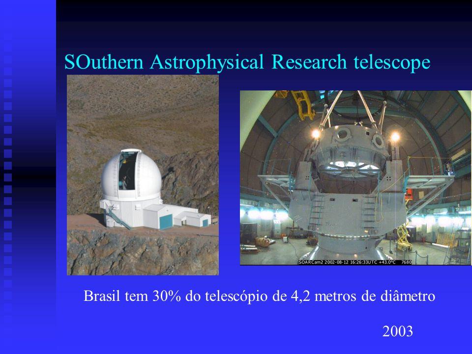 SOuthern Astrophysical Research telescope Brasil tem 30% do telescópio de 4,2 metros de diâmetro 2003