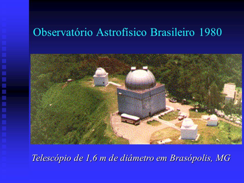 Observatório Astrofísico Brasileiro 1980 Telescópio de 1,6 m de diâmetro em Brasópolis, MG