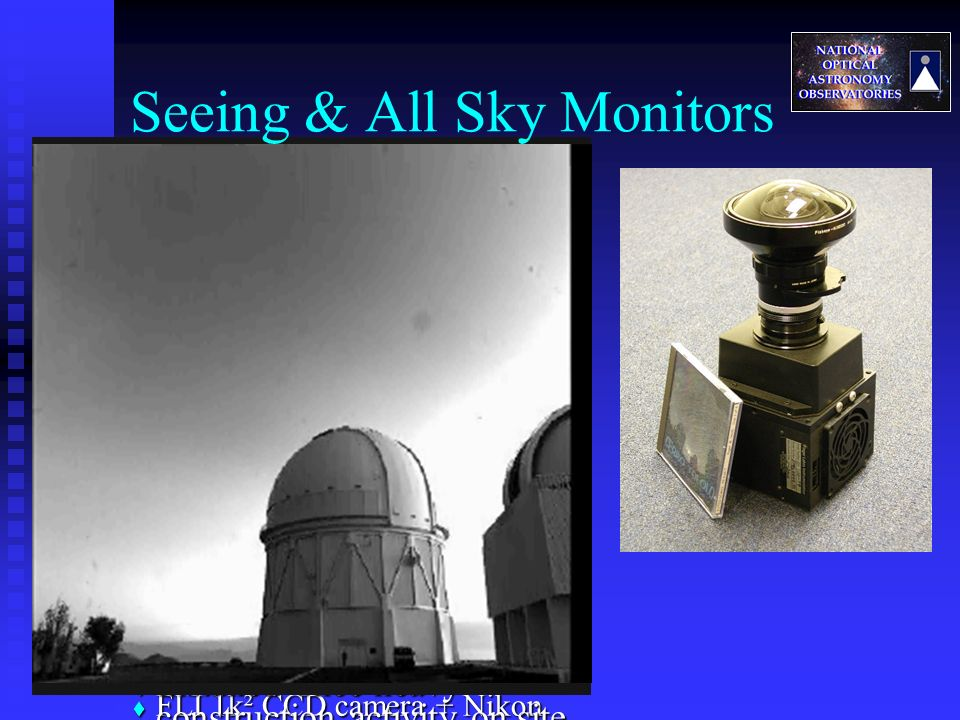 All Sky Camera All Sky Camera Key tool for efficient science operations Key tool for efficient science operations CTIO copy now in routine service CTI