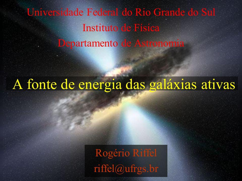 A fonte de energia das galáxias ativas Rogério Riffel riffel@ufrgs.br Universidade Federal do Rio Grande do Sul Instituto de Física Departamento de As