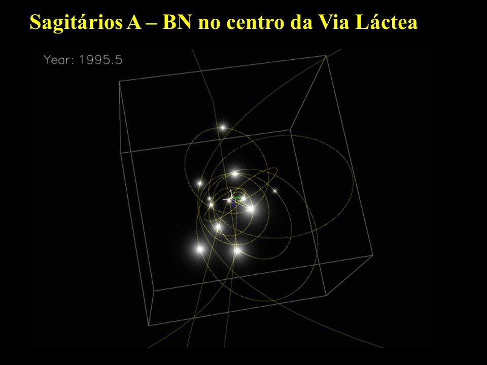 Sagitários A – BN no centro da Via Láctea