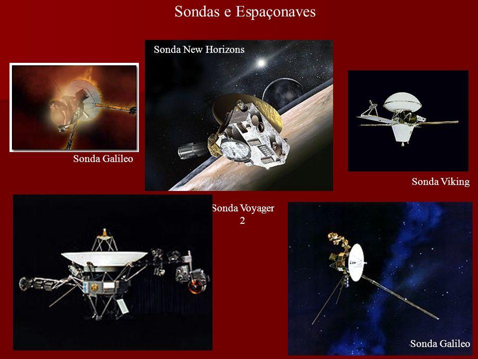 Sondas e Espaçonaves Sonda Galileo Sonda Viking Sonda New Horizons Sonda Voyager 2