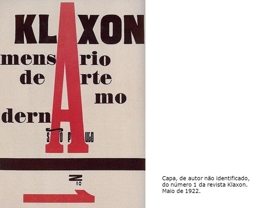 Capa, de autor não identificado, do número 1 da revista Klaxon. Maio de 1922.