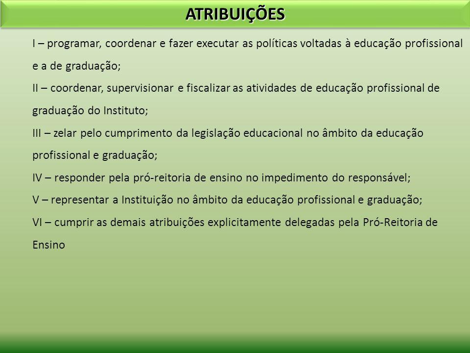 ATIVIDADES DESENVOLVIDAS - 2009 Definir os princípios e diretrizes para a construção dos Projetos Pedagógicos de Curso (PPC); Estruturar metodologias pedagógicas que serão adotadas na elaboração dos PPCs, tais como: - a Prática Profissional de todos os cursos deve ser integrada, não somente entre as disciplinas que compõe determinado período letivo num percentual de no mínimo 10% da carga horária mínima do curso; - as Atividades Complementares serão um elemento curricular que visa dar flexibilização curricular, deve ser contemplado nos projetos dos cursos, num percentual entre 05% e 10% da carga horária mínima do curso; - as Disciplinas Eletivas também uma ferramenta de flexibilização curricular e dá a possibilidade de se contemplar as regionalidades das ofertas dos cursos, estas disciplinas devem estar contempladas num percentual de 10% a 20% da carga horária mínima do curso; - o Estágio Curricular e/ou Trabalho de Conclusão de Curso são elementos curriculares opcionais no curso, exceto quando a legislação superior prevê a obrigatoriedade; - os cursos podem prever saídas intermediárias em seus projetos com itinerários e perfis formativos bem definidos.