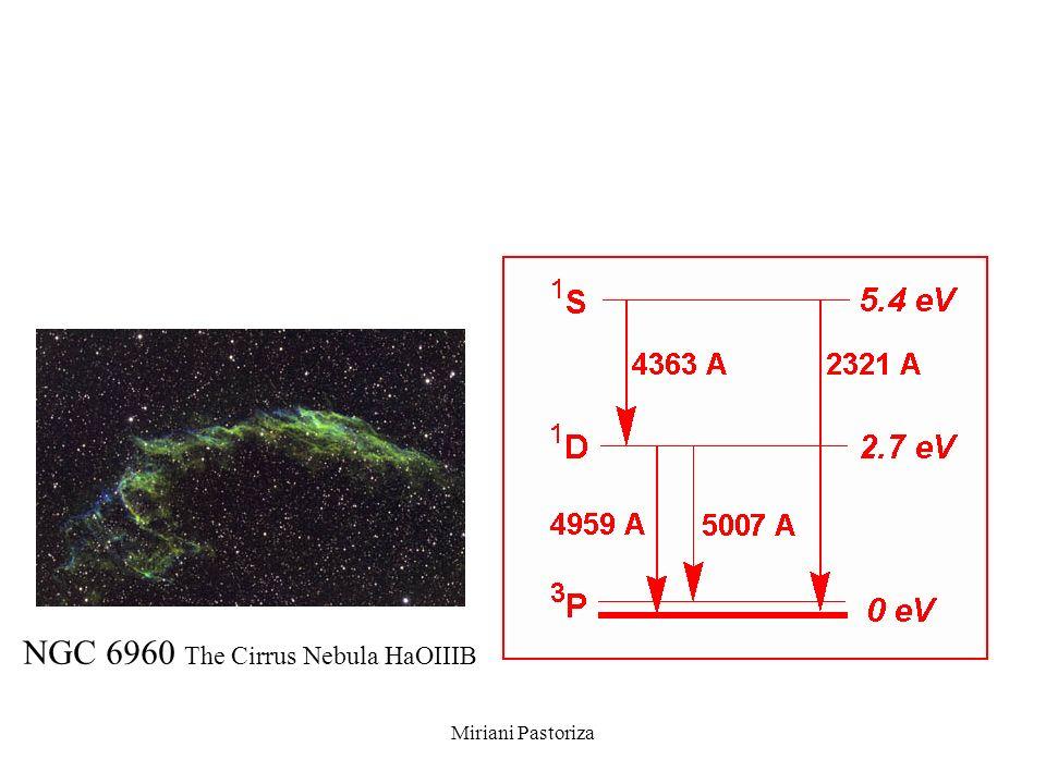 Miriani Pastoriza NGC 6960 The Cirrus Nebula HaOIIIB