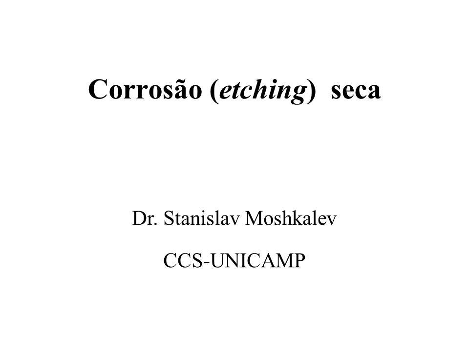 Corrosão (etching) seca Dr. Stanislav Moshkalev CCS-UNICAMP