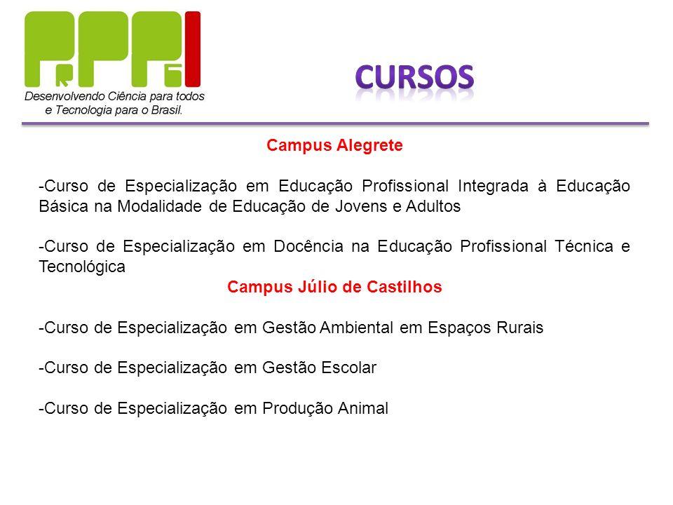 Campus Alegrete -Curso de Especialização em Educação Profissional Integrada à Educação Básica na Modalidade de Educação de Jovens e Adultos -Curso de