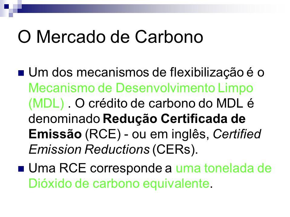 Um dos mecanismos de flexibilização é o Mecanismo de Desenvolvimento Limpo (MDL). O crédito de carbono do MDL é denominado Redução Certificada de Emis
