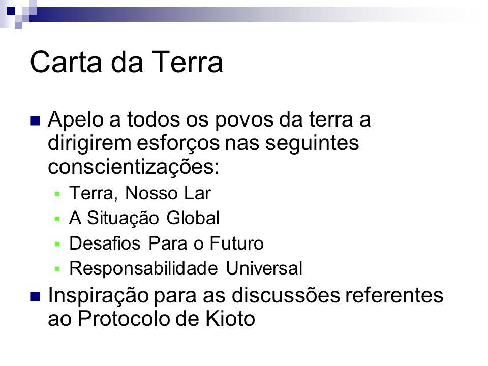 RIO 92 + 5 & RIO + 10 Em 1997, durante um sessão especial da Assembl é ia Geral das Na ç ões Unidas (chamada de Rio +5 ), percebeu-se que existiam diversas lacunas nos resultados da Agenda 21.