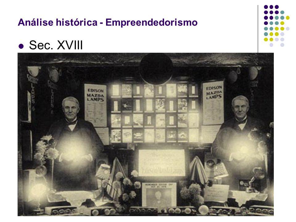 Sec. XVIII Análise histórica - Empreendedorismo