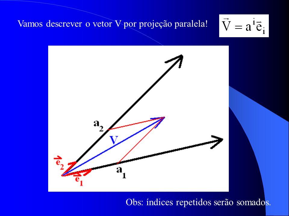 A forma por não depende nunca da escolha do sistema de referência escolhido pois V e o versor e i são formas simbólicas.