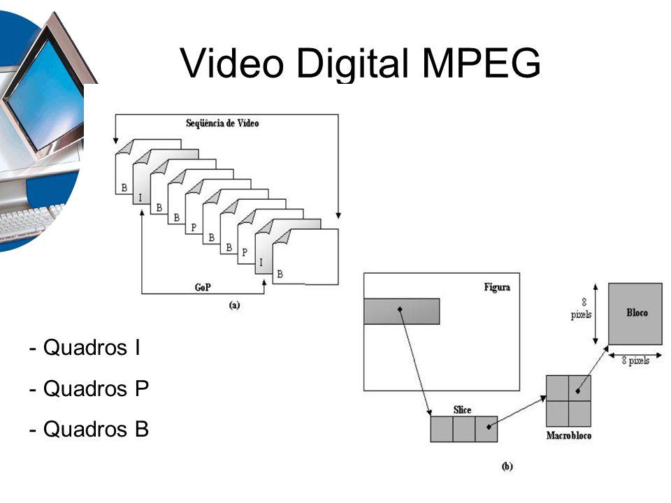 Video Digital MPEG - Quadros I - Quadros P - Quadros B
