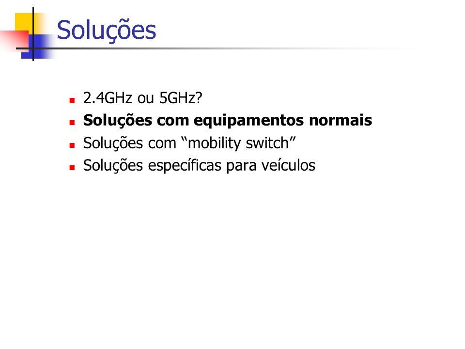 Soluções 2.4GHz ou 5GHz.