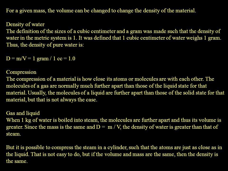 densidade Cada ramo da indústria química desenvolveu a sua própria escala a ser utilizada no hidrômetro assim pode-se montar a seguinte tabela: Tipo de escala definição Tipo de aplicação API Indústria do petróleo, Brix % em peso de sacarose (carboidratos) na água cerveja, fermentações Baumé denso soluções mais densas do que a água, ácido sulfúrico, glicerina Baumé leve soluções menos densas do que a água, amônia, verniz Cloreto de cálcio % em peso de CaCl2 em águafluido de sistemas frigoríficos Lactômetro indústria do leite Salímetro % da saturação de cloreto de sódio em água (100% =26,4% em massa de CaCl2 a 60F) soluções salinas, indústria de alimentos Gravidade específica qualquer tipo de líqüido Gay Lussac (Tralles) % volumétrica de alcoolindústria alcooleira Twadell Indústria de tintas INPM % em massa de álcoolidem (Brasil)