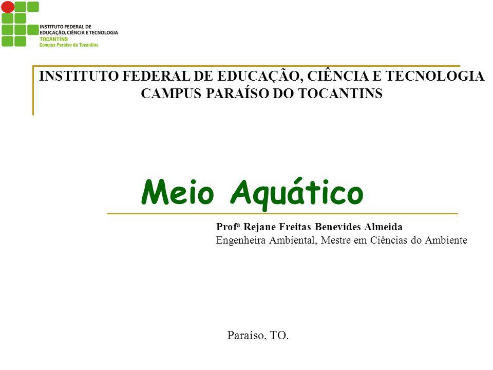 CARACTERÍSTICAS ÁGUA Características físicas: - Estado líquido em condições normais de temperatura e pressão; - Temperatura; - Cor; - Turbidez; - Sabor e odor; - Transparência.