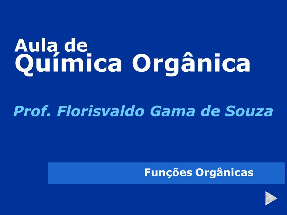 Aula de Química Orgânica Prof. Florisvaldo Gama de Souza Funções Orgânicas