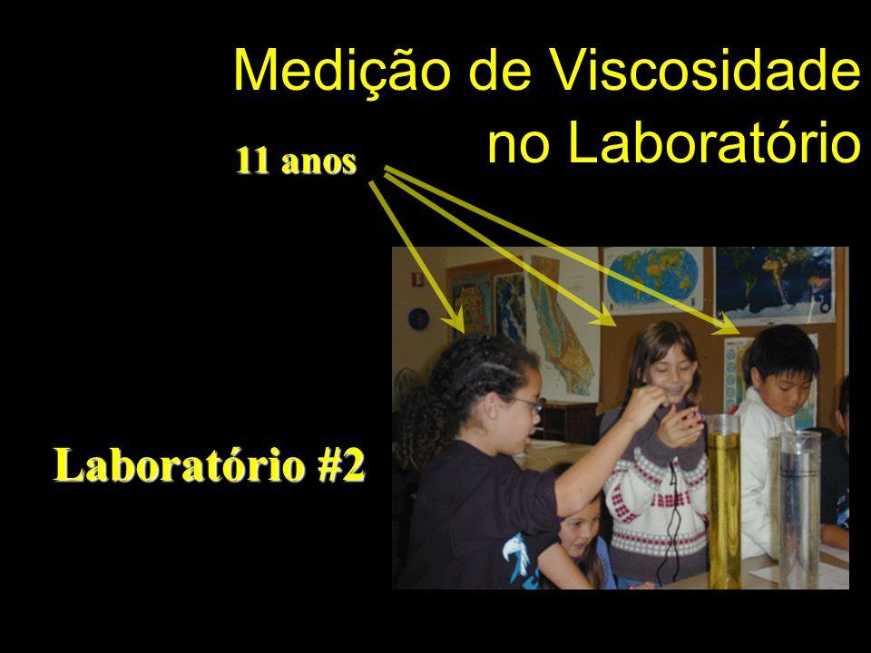 Medição de Viscosidade no Laboratório Laboratório #2 11 anos 11 anos