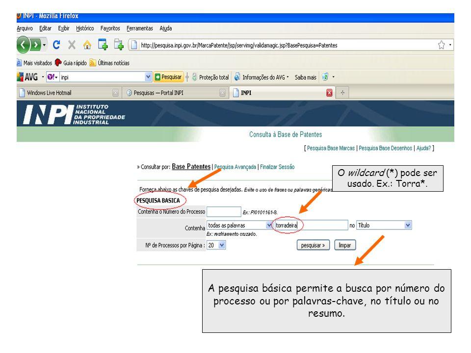 A pesquisa básica permite a busca por número do processo ou por palavras-chave, no título ou no resumo.