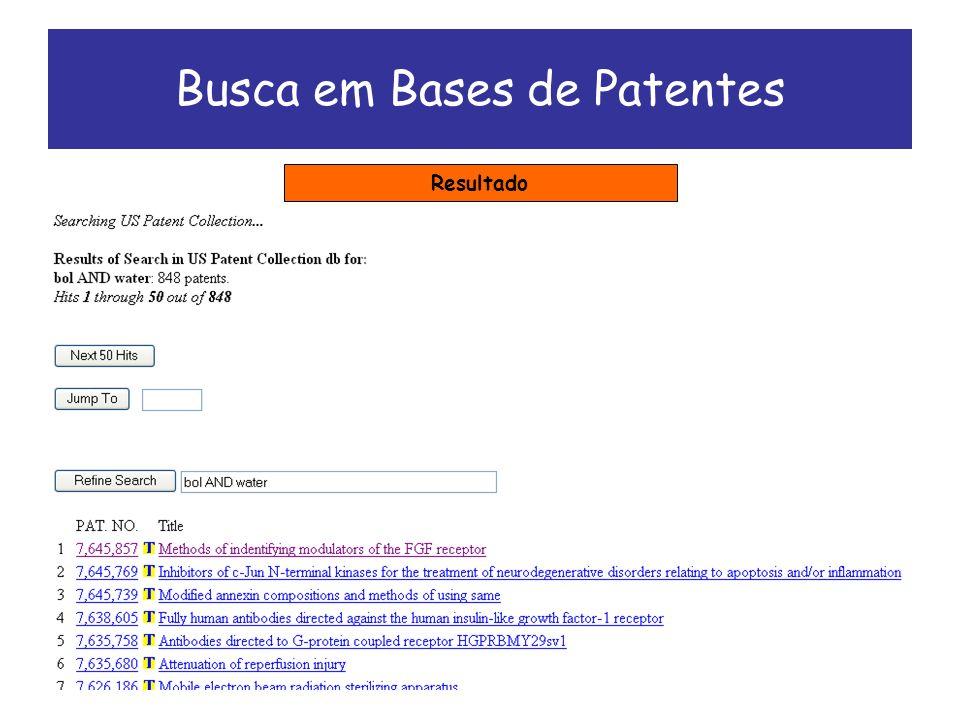 Busca em Bases de Patentes Resultado