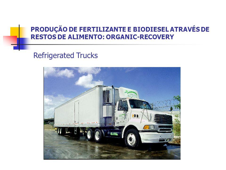 PRODUÇÃO DE FERTILIZANTE E BIODIESEL ATRAVÉS DE RESTOS DE ALIMENTO: ORGANIC-RECOVERY Refrigerated Trucks