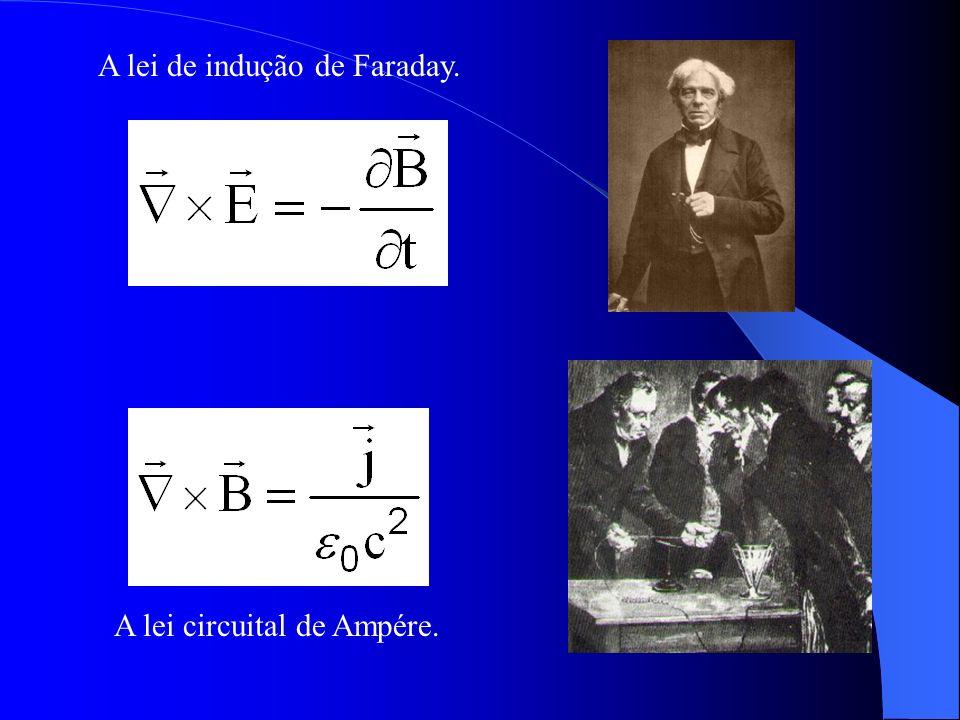 A lei circuital de Ampére. A lei de indução de Faraday.