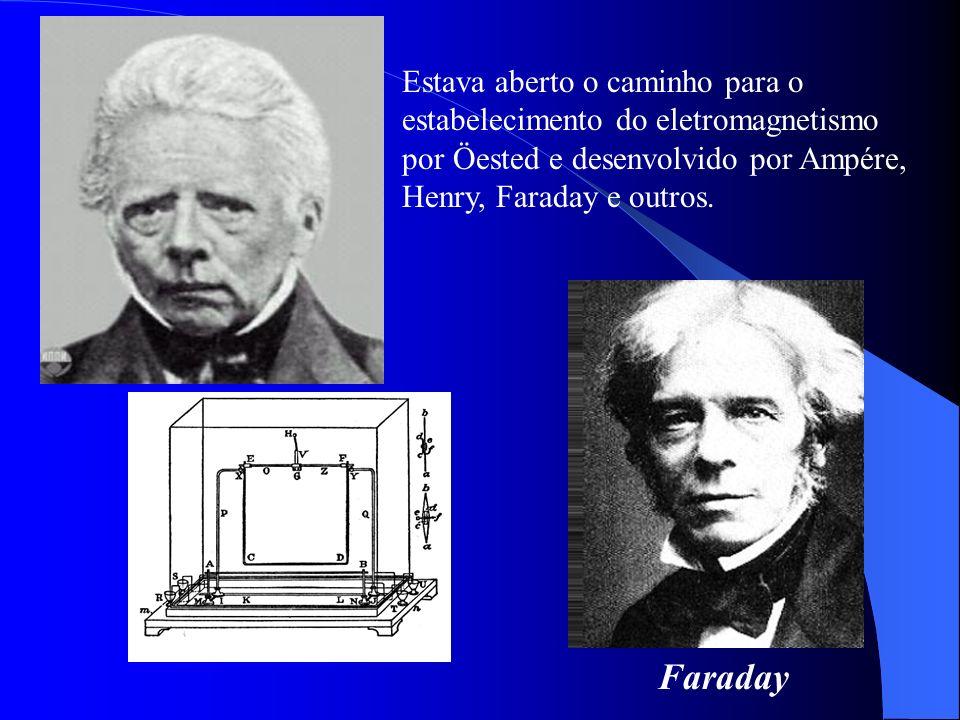 Estava aberto o caminho para o estabelecimento do eletromagnetismo por Öested e desenvolvido por Ampére, Henry, Faraday e outros. Faraday