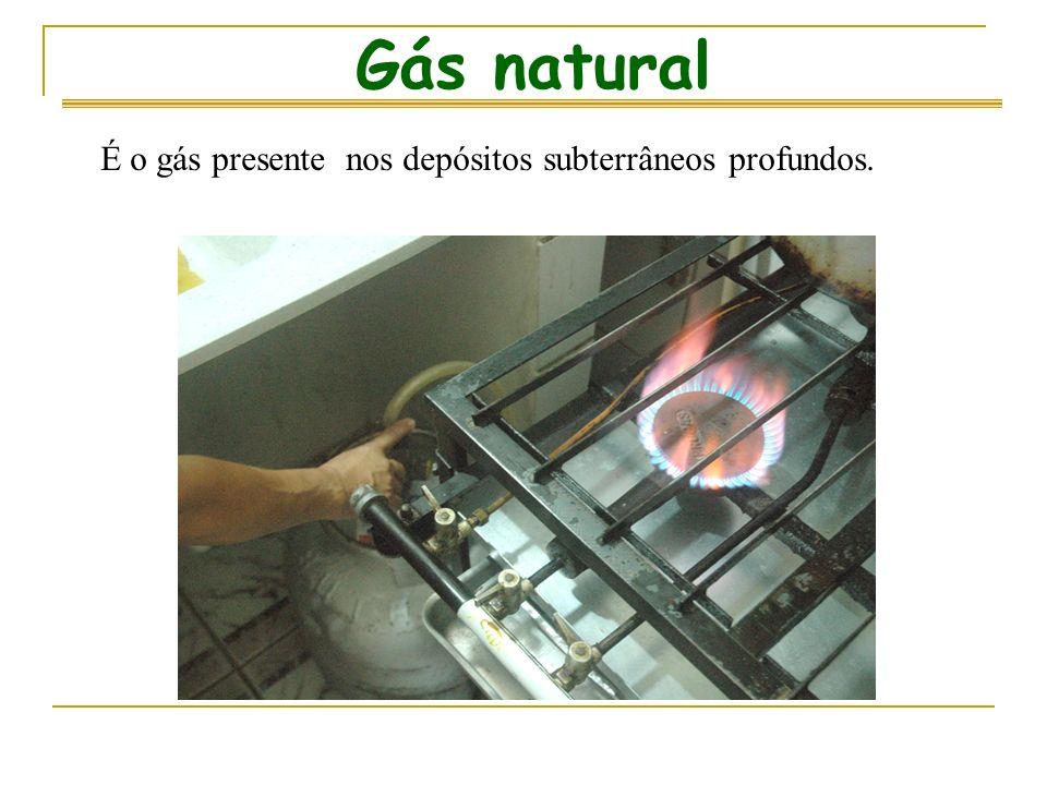 Gás natural É o gás presente nos depósitos subterrâneos profundos.