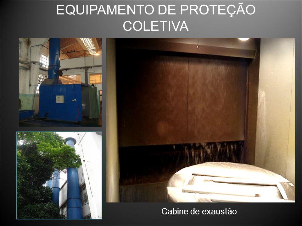 Cabine de exaustão EQUIPAMENTO DE PROTEÇÃO COLETIVA
