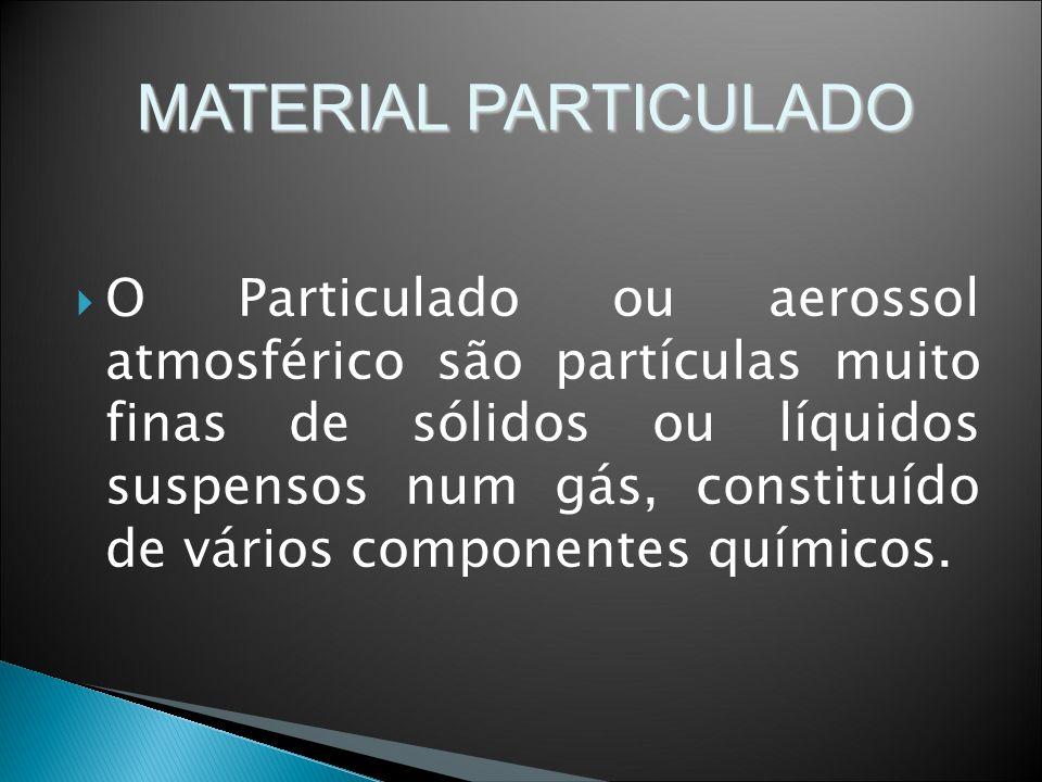 O Particulado ou aerossol atmosférico são partículas muito finas de sólidos ou líquidos suspensos num gás, constituído de vários componentes químicos.