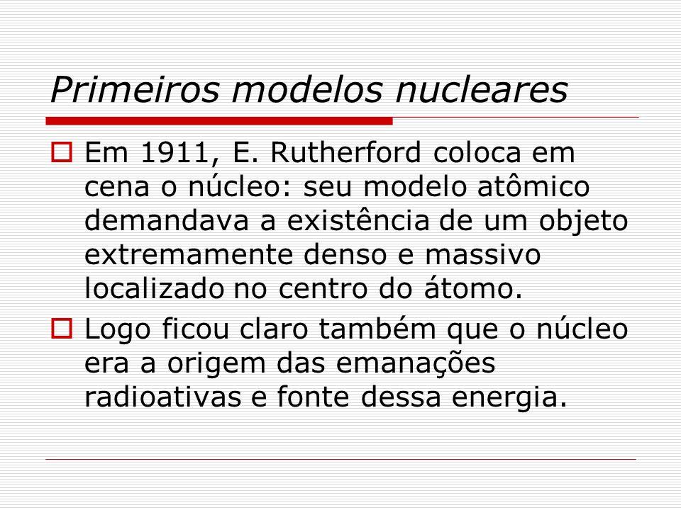 Primeiros modelos nucleares MAS, qual a estrutura desses núcleos.