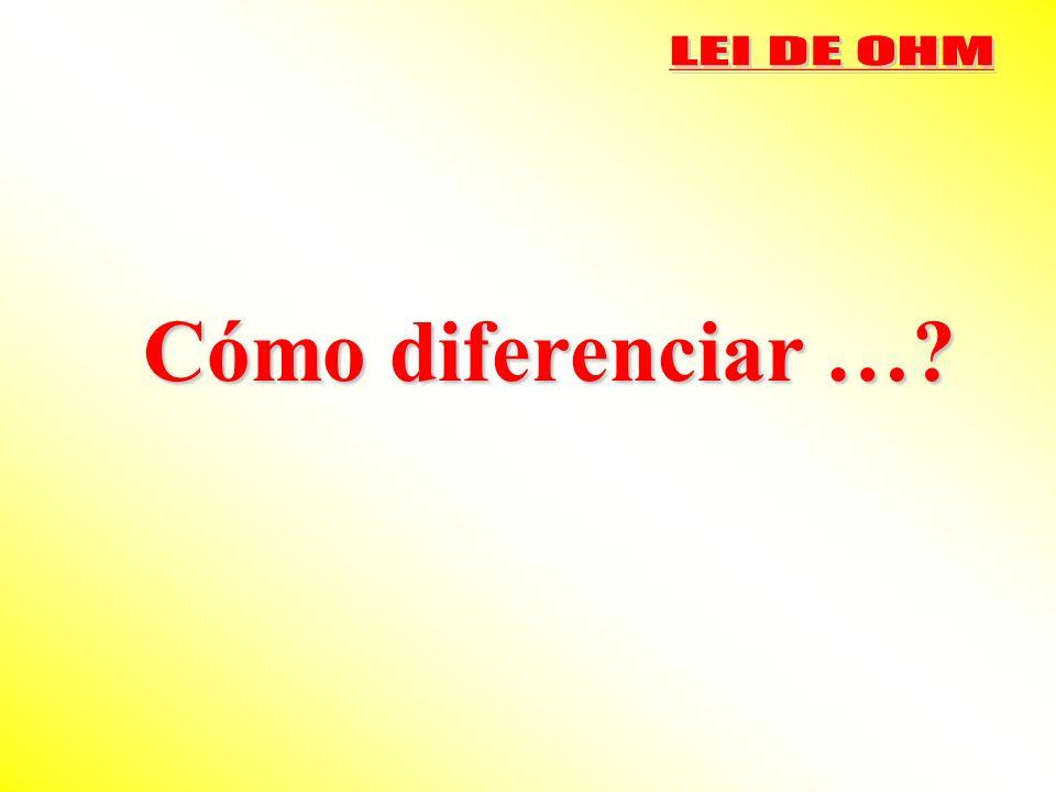 Cómo diferenciar …?