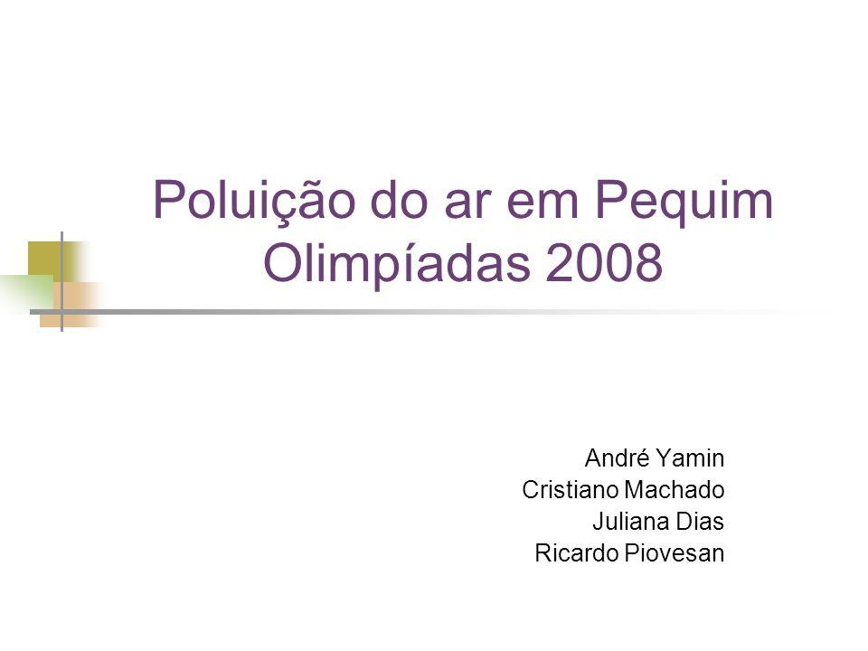 Poluição do ar em Pequim Olimpíadas 2008 André Yamin Cristiano Machado Juliana Dias Ricardo Piovesan