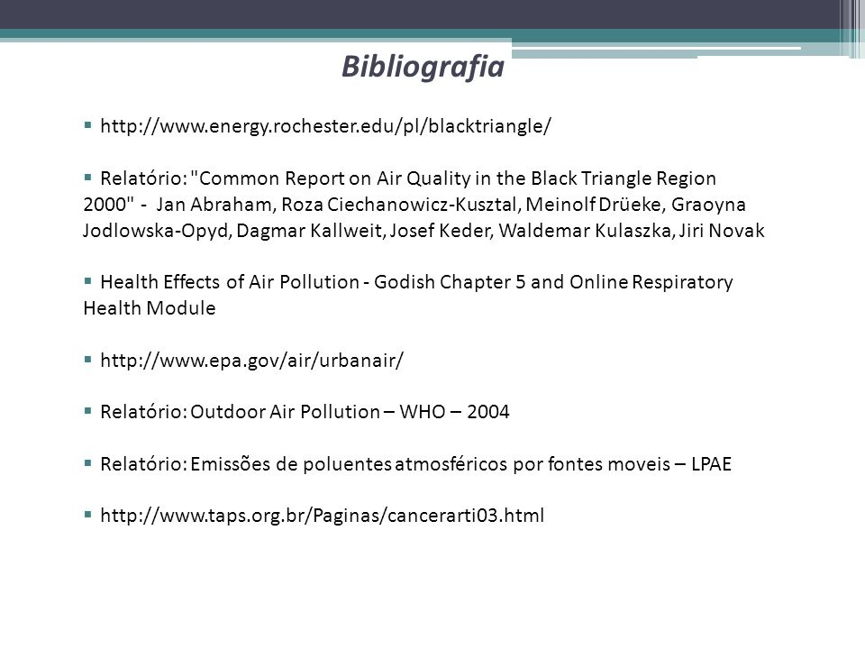http://www.energy.rochester.edu/pl/blacktriangle/ Relatório: