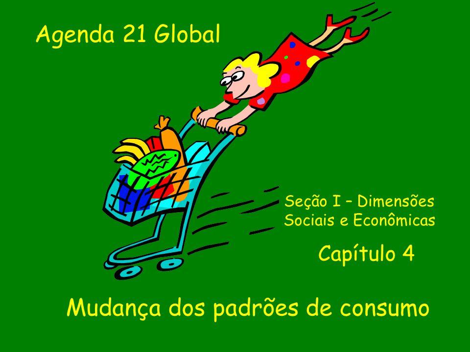 Mudança dos padrões de consumo Seção I – Dimensões Sociais e Econômicas Capítulo 4 Agenda 21 Global