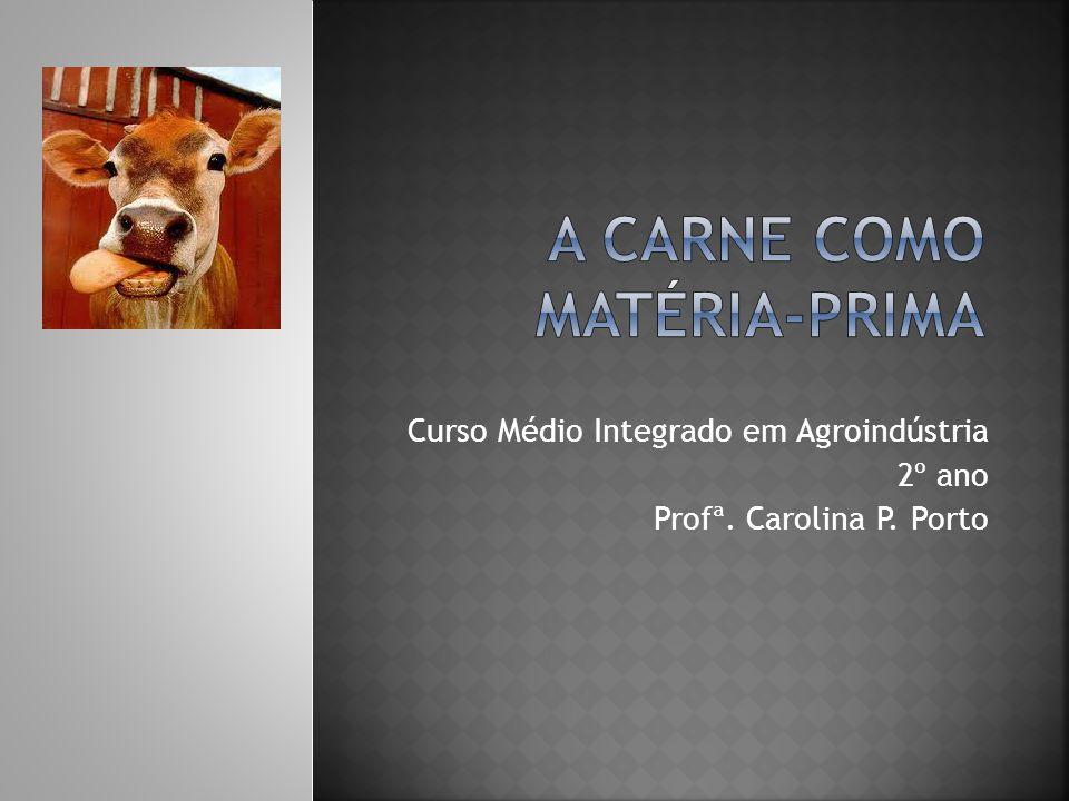 Curso Médio Integrado em Agroindústria 2º ano Profª. Carolina P. Porto