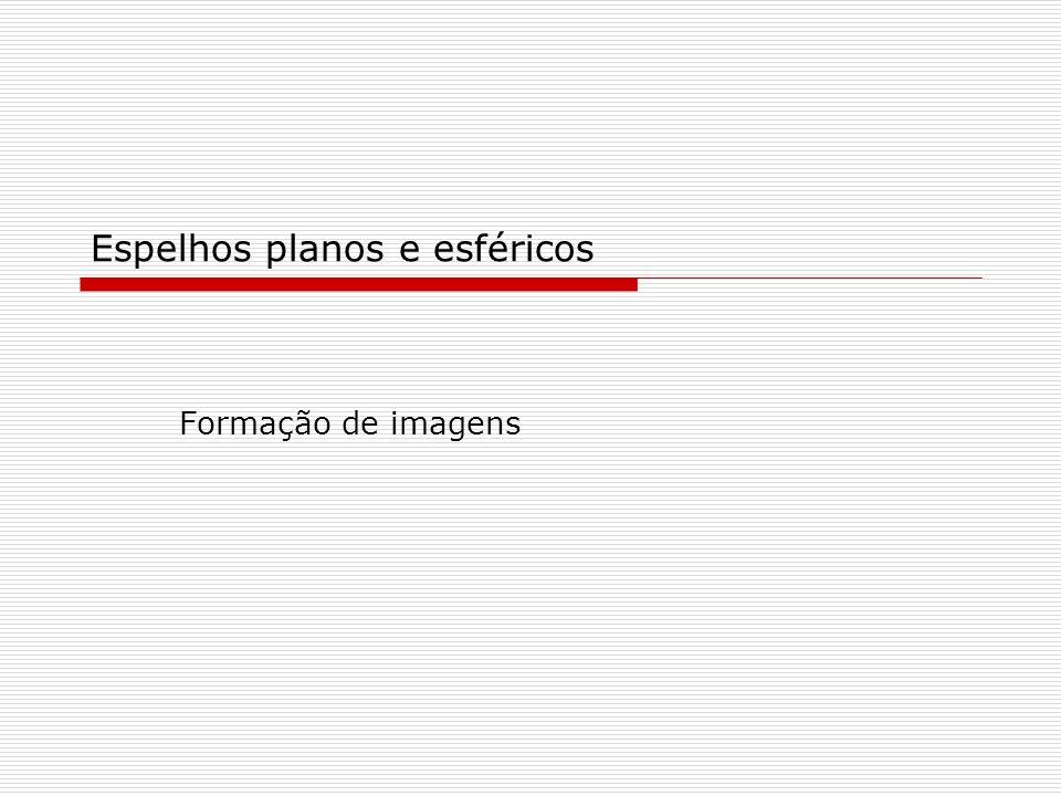 Espelhos planos e esféricos Formação de imagens