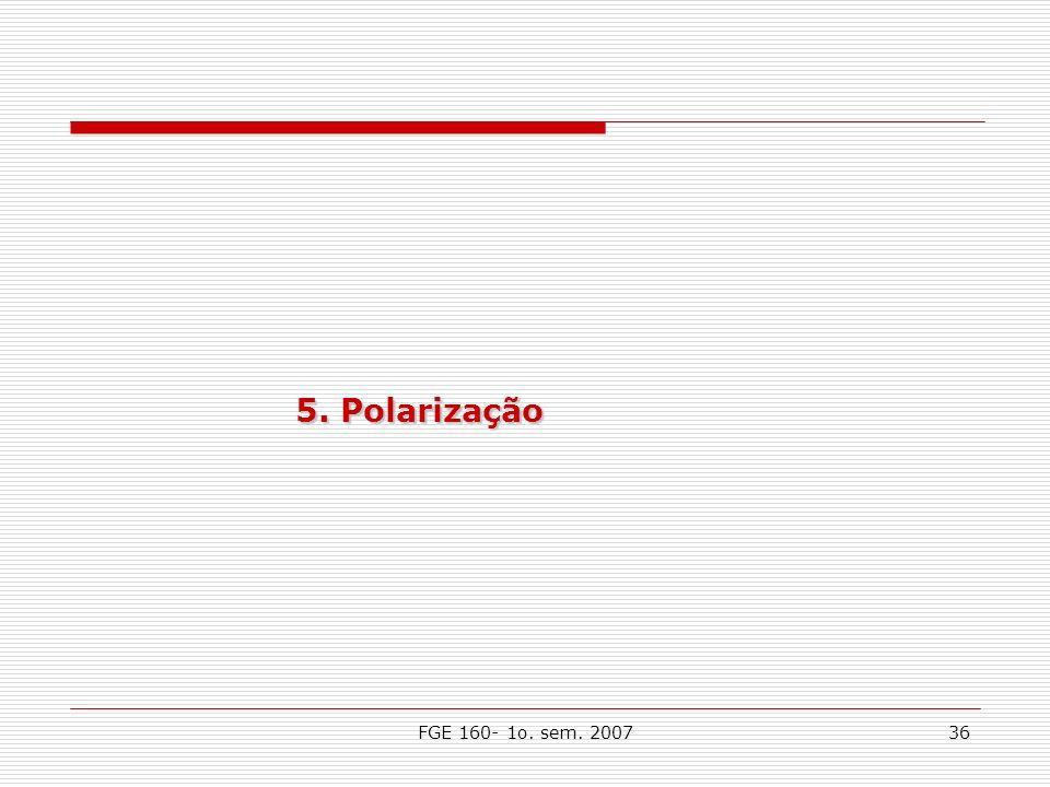 FGE 160- 1o. sem. 200736 5. Polarização