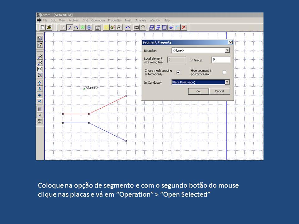 Coloque na opção de segmento e com o segundo botão do mouse clique nas placas e vá em Operation > Open Selected