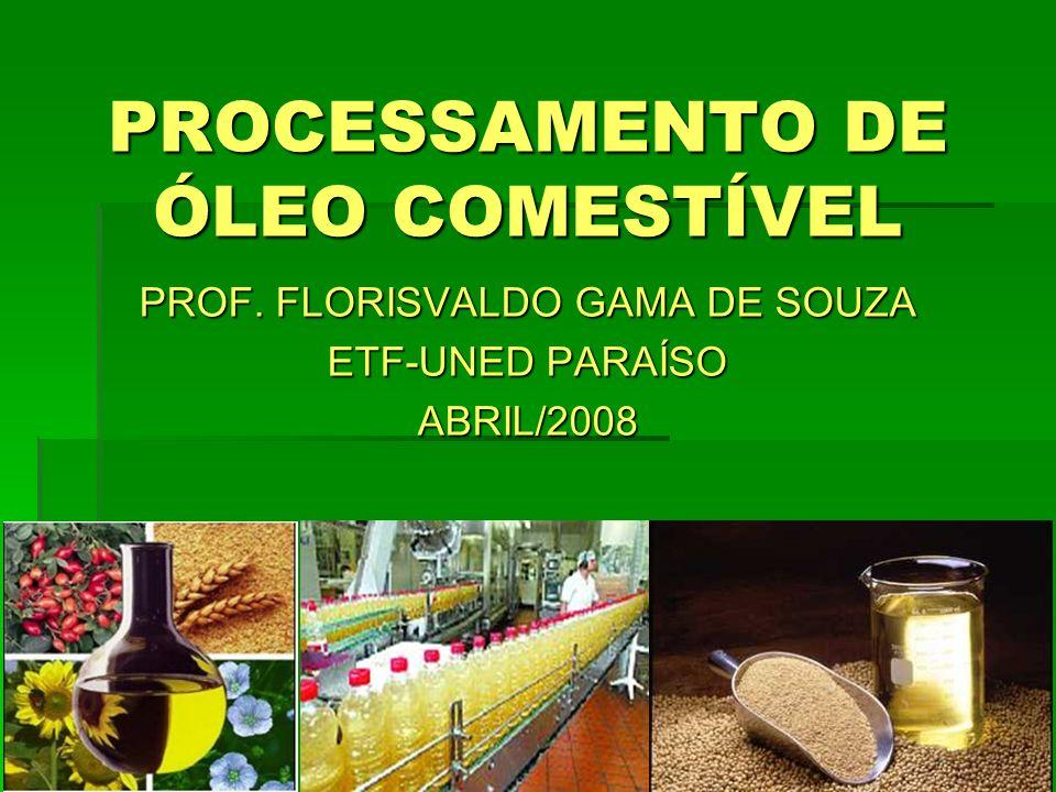 INDUSTRIALIZAÇÃO DAS SEMENTES OLEAGINOSAS PRODUÇÃO DE ÓLEOS BRUTOS 1.Classificação e armazenamento das sementes oleaginosas; 2.Preparação da matéria-prima; 3.Extração do óleo bruto.