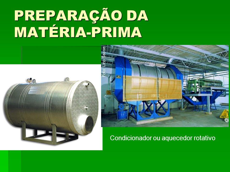 PREPARAÇÃO DA MATÉRIA-PRIMA Condicionador ou aquecedor rotativo
