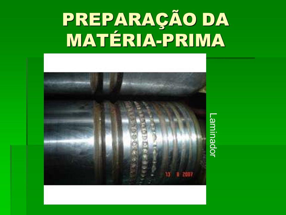 PREPARAÇÃO DA MATÉRIA-PRIMA Laminador