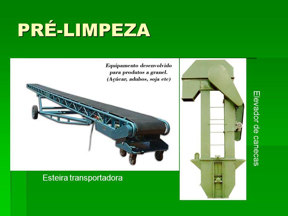 PRÉ-LIMPEZA Esteira transportadora Elevador de canecas