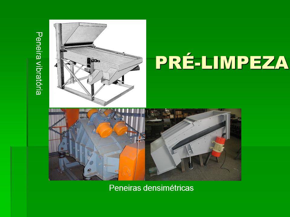 PRÉ-LIMPEZA Peneiras densimétricas Peneira vibratória