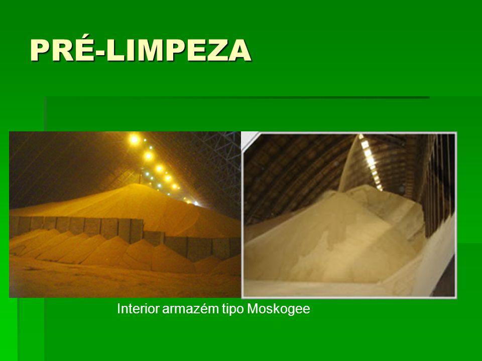 PRÉ-LIMPEZA Interior armazém tipo Moskogee